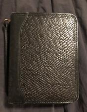 Vintage Leather Franklin Quest Zip Around Planner Notebook Euc