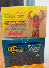 (2) 1990 CLASSIC WRESTLING SETS - SERIES 1&2 WWE WWF SEALED HOGAN MACHO ULTIMATE