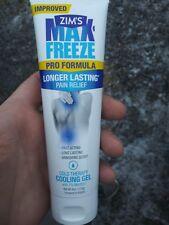 ZIM'S MAX FREEZE Pro Formula Pain Relief Cooling Gel 4oz EXP 04/2020