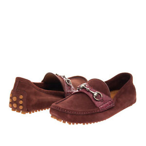 RRP €430 GUCCI Leather Driving Moccasins EU41.5 UK7.5 US8 Horsebit Made in Italy