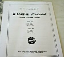 """8 x 11"""" Instructrion & Parts Book, Wisconsin ACN, BKN Model Engines, Copy"""