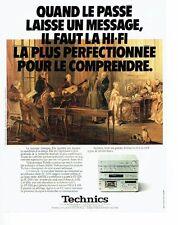 PUBLICITE ADVERTISING 027  1980  Techincs  chaine hi-fi stéréo
