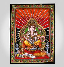 Lord Ganesh Tapestry Ethnic Indian Wall Hanging Yoga Mat Ethnic Table Cover Dorm