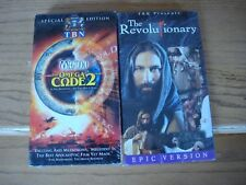 Lot of 2 VHS Tapes The Omega Code 2 & The Revolutionary Epic Version Movies New