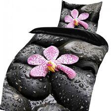 Steine ORCHIDEEN Relax Wellness Style MIKROFASER Bettwäsche 135x200cm