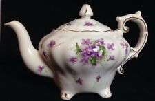 Teapot With Lid Rossetti Spring Violets Fine China Occupied Japan Hand Painted