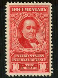 R677 REVENUE Documentary $10 Red LATE ISSUE Walker Full Gum MNH SEE PHOTO L-565