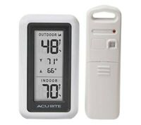 AcuRite Wireless Weather Thermometer Indoor/Outdoor 00522SBDIA2 Brand New