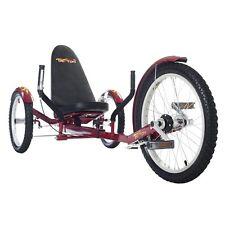 "Mobo TriTon 20"" 3 WHEEL Tricycle RECUMBENT Trike Bike Red TRI-501R"