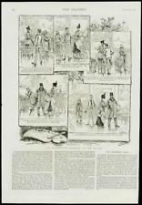 1889 antique print-Illustrated Story interrompu Romance Louvre (130)