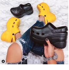New Women Lightweight Waterproof High Flat-Platform Wedge Heel Clogs Sandal Shoe