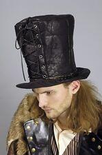 Hoher Zylinder Steampunk schwarz Herren Hut Schnürung Gothic Halloween