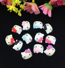 12pcs DIY Cute Resin HELLO KITTY Mix Bow flatback Scrapbooking For phone /craft