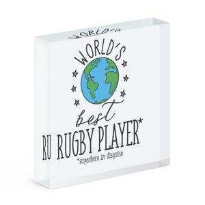World's Best Rugby Player Acryl Foto Block Rahmen Lustig Favorit Sport