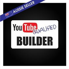 Youtube Qualified BUILDER - FUNNY PRANK Sticker Tools Shed Car Decal Toolbox