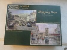 Falcon shopping DAYS  (2x1000 Pieces) Jigsaw Puzzles