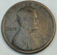1915 - S - US Lincoln Wheat Cent - Semi Key Date - Woody? (Q407)