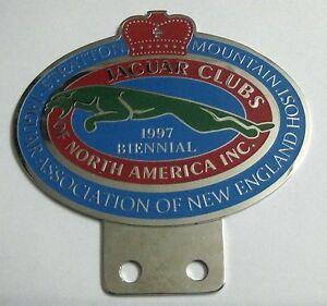 CAR BADGE - JAGUAR CLUB OF NORTH AMERICA GRILL BADGE EMBLEM LOGOS METAL CAR GRIL