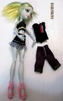 Monster high doll Lagoona shorts skirts & tops pink high heels