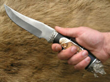 "Custom tactical survival style Damascus knife ""Russian bear"""