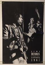 Jimi Hendrix Vintage Poster Saville Theatre London Playing Guitar Performance