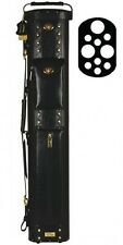 Elite ECL37 3x7 Black Leather Hard Cue Case for Pool Cues w/ FREE shipping