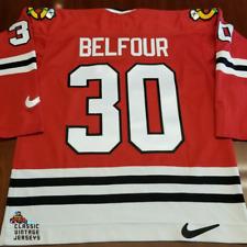 Ed Belfour Vintage Chicago Blackhawks Nike Jersey