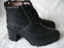 Jeffrey Cambell black leather lace up ankle boots, size 4 UK (37)