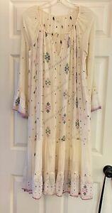 Dosa Khadi long dress sz 4 - Absolutely Stunning! Hand Spun & Woven Cotton.  EUC