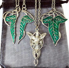 SPLIT Elven Leaf + EVENSTAR + SILVER VEINS Necklace SET LOTR Lord of The Rings