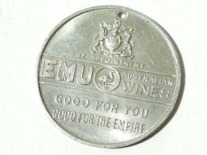 1935 Commemorative Medal Silver Jubilee George V Emu Wines Australia #G41