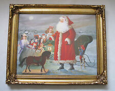 """Merry Christmas by D Morgan Limited Edition Print of 100 Signed & Framed 14""""x11"""""""
