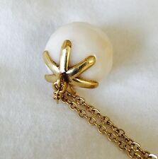 Pilgrim Skanderborg Genuine Quartz Necklace. Gold Plated Chain NWT Price $11.50