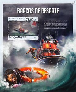Lifeboats & Coast Guard Sea Rescue Boats Ship Stamp Sheet #2 (2013 Mozambique)