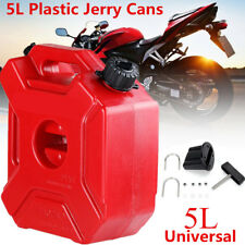 5L Plastic Jerry Cans Gas Container Diesel Fuel Tanks Car Bike Motorcycle w/Lock