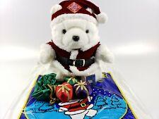 1998 Dayton Hudson Santa Bear Collectable   Christmas Plush Santabear with Bag