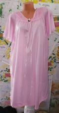 Vintage Soft Silky Bright Pink Lacy Nightgown Nightie Nylon Sz S