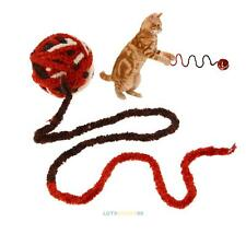 Pet Cat Kitten Dog Rope Ball Toy Colorful Interactive Toys Teeth Clean Bite Toy