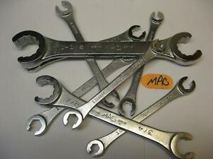 Mac tools SAE & METRIC Flare Nut Line WRENCHES sold each pick your size. New!