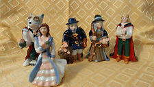 5 Wade Porcelain Beauty and the Beast Collector's Club Figurines 2003 Rare Set