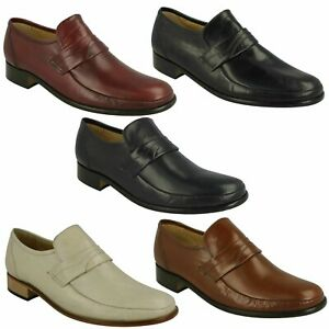 MENS FORMAL LEATHER MOCCASIN SLIP ON SMART OCCASION SHOES THOMAS BLUNT SWINDON