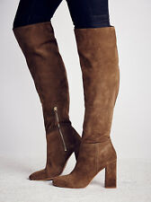 Free People Liberty Over the Knee Womens Size EU 38 US 8  Taupe Boots Suede