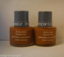 2 Prescriptives Makeup Foundation Natural Lightweight Sheer 24 Redwood FULL SIZE