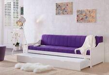 Sofabett Tagesbett  Kiefer massiv in weiß lackiert Miriam 90x200cm