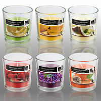 18 Hour Designer Style Scented Wax Candle In Glass Jar Long Burn Time Fragrant