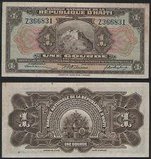 Haiti REPLACEMENT Z P 160 - 1 Gourde 1919 - VF
