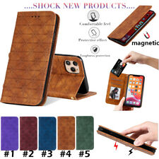 For iPhone 11 Max X XR SE 2020 6s Leather Flip Wallet Bracket Phone Case Cover