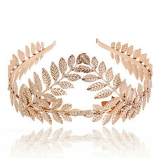 Headband Goddess Leaf Flower Girl Hair Crown Head Piece Rose Gold Band Bridal