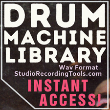 Drum Machine BEATBOX SAMPLES Collection 6700 Sound Library Vintage WAV 1970 1980