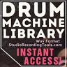 Drum Machine BEATBOX SAMPLES Collection 6700 Sound Library Vintage WAV 1970 1980